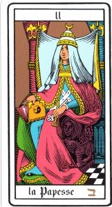 Card II from Esoteric Tarot by Oswald Wirth