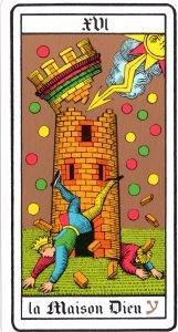 Tarot Card XVI - La Maison Dieu
