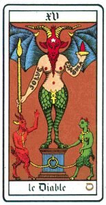 Oswald Wirth Tarot XV - The Devil
