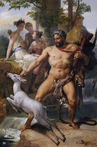 Hercules and the Ceryneian Hind - Joseph Blondel