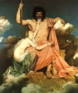 Jupiter and Teti - Jean Auguste Dominique Ingres